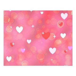Valentine's background 11.5 cm x 14 cm flyer