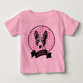 Valentines - Basenji Silhouette Baby T-Shirt