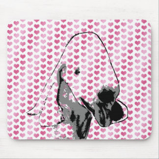Valentines - Bedlington Terrier Silhouette Mouse Pad