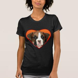 Valentine's Boxer puppy Tee Shirt