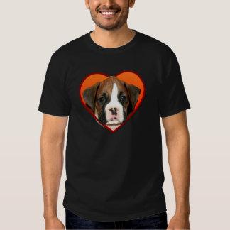 Valentine's Boxer puppy Tee Shirts