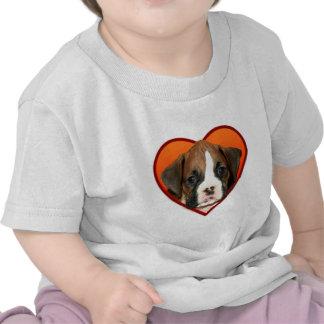 Valentine's Boxer puppy Tshirts
