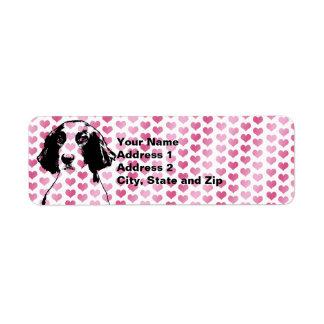 Valentines - Brittany Silhouette - Charlie Return Address Label