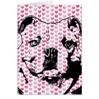 Valentines - Bulldog Silhouette Card