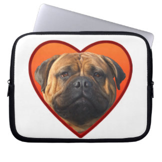 Valentine's bullmastiff computer sleeves