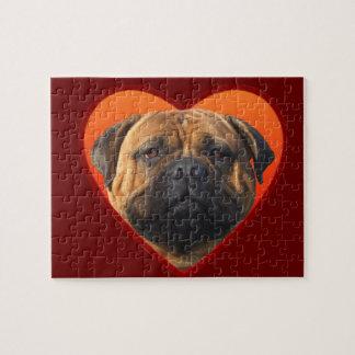 Valentine's bullmastiff puzzle