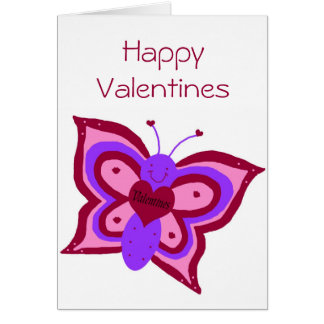 Valentines butterfly blank card