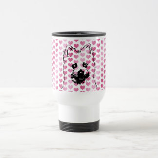 Valentines - Cairn Terrier Silhouette Stainless Steel Travel Mug