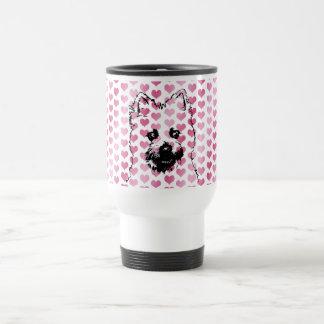 Valentines - Cairn Terrier Silhouette Travel Mug