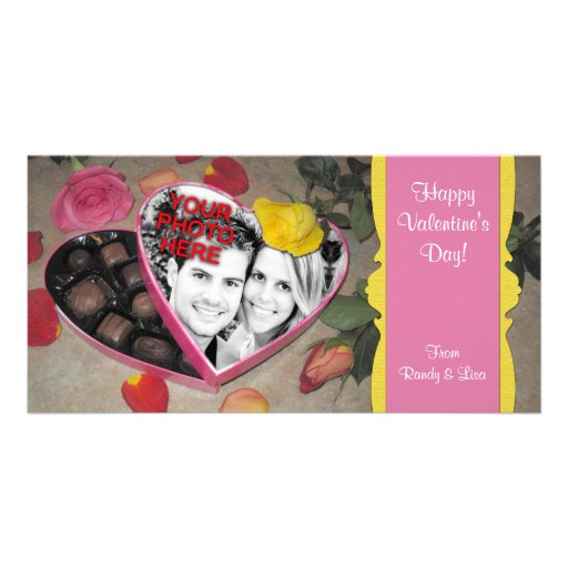 Valentine's Candy Box Frame Template Photo Card Template
