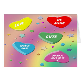 Valentine's Candy Hearts Greeting Card
