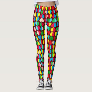 Valentines Candy Hearts Leggings