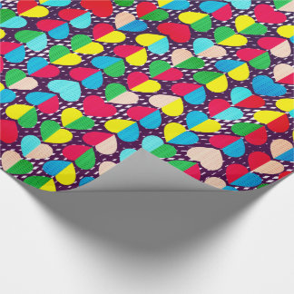 Valentines Candy Swirl Hearts Wrapping Paper