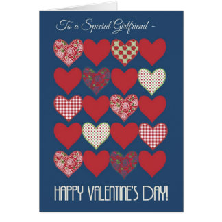 Valentine's Card for Girlfriend, Hearts, Roses