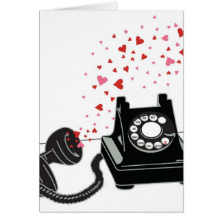 Valentine's Card - Retro Phone