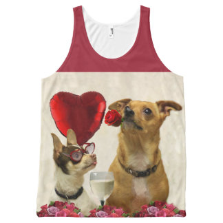 Valentines Chihuahua dogs all over print tank top All-Over Print Tank Top