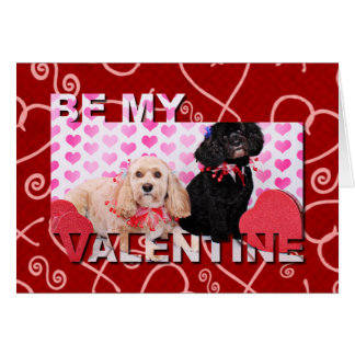 Valentines - Cockapoo - Ella and Lilo Card