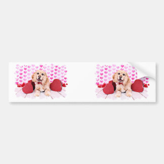 Valentines - Cocker Spaniel - Duke Bumper Stickers