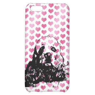 Valentines - Cocker Spaniel Silhouette iPhone 5C Cover