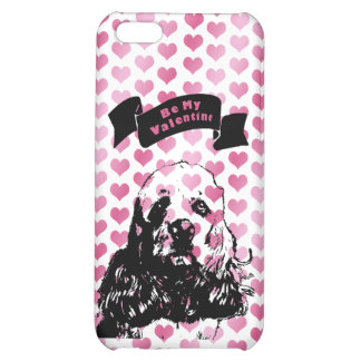 Valentines - Cocker Spaniel Silhouette Cover For iPhone 5C