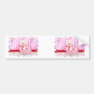 Valentines - Coton de Tulear - Sophie Bumper Stickers