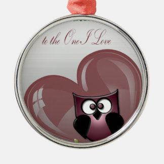 Valentine's Cute Owl, to the One I Love Christmas Ornament