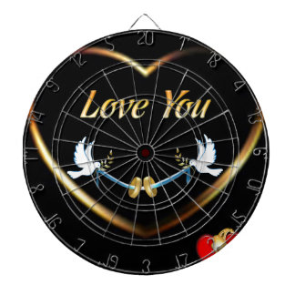Valentines Dartboard With Darts