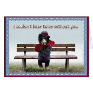 Valentine's Day 2012 Andean Bear Foundation Greeting Card