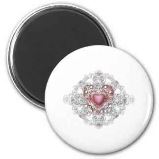 Valentine's Day 6 Cm Round Magnet