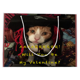 Valentine's Day - Aarrr Will You be My Valentine Large Gift Bag