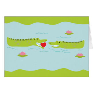 Valentine's Day Alligator Love Card