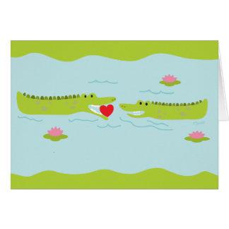 Valentine's Day Alligator Love Greeting Card