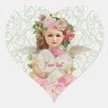 Valentine's Day Angel Heart Stickers