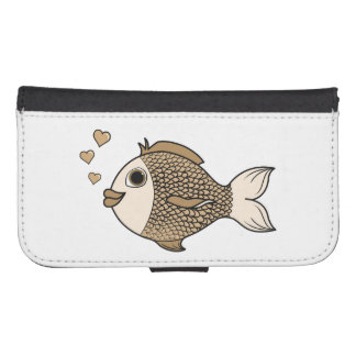 Valentine's Day Antique White Fish with Hearts