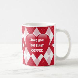 Valentine's Day Argyle Coffee Mug