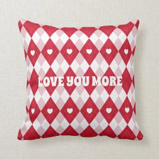 Valentine's Day Argyle Cushion