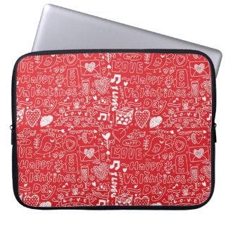 Valentine's day art laptop sleeves