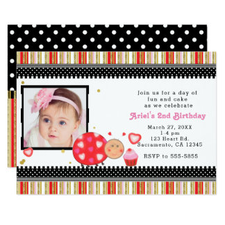 Valentines Day Birthday Party Photo Invitation