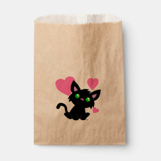 Valentine's Day Black Kitty Favor Bag