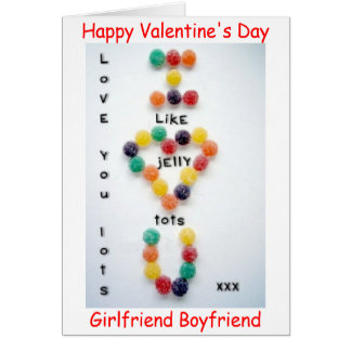 VALENTINE'S DAY BOYFRIEND GIRLFRIEND CARD LOVE YOU