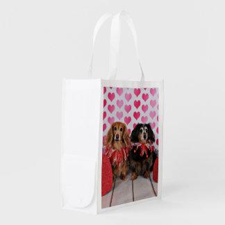 Valentine's Day - Brooklyn & Mandy - Dachshunds