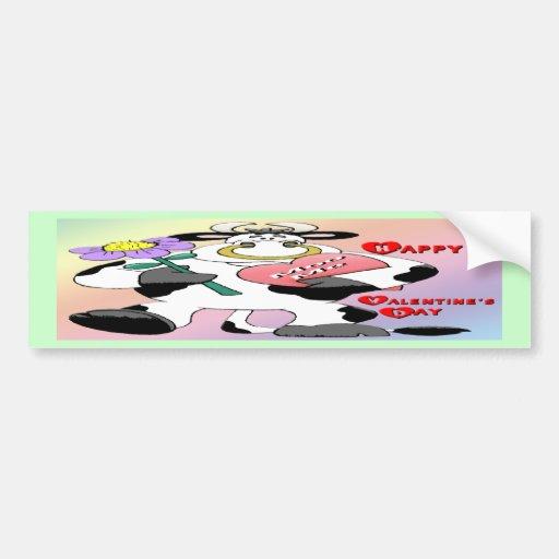 Valentine's Day Bull Bumper Stickers