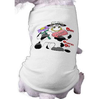 Valentine's Day Bull Doggie Tee Shirt