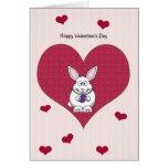 Valentine's Day Bunny Rabbit Card