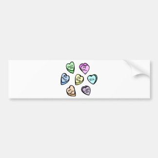 Valentine's Day Candy Hearts Bumper Sticker