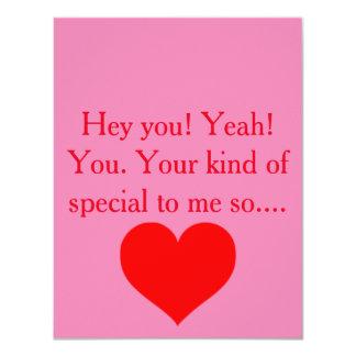 Valentines day card 11 cm x 14 cm invitation card