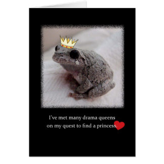 Valentine's Day Card Drama Queen to Princess