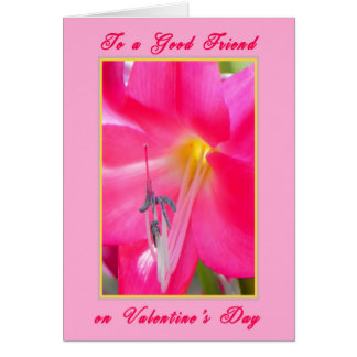 Valentine's Day Card for a Friend Pink Lily