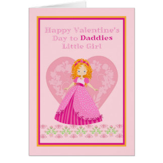 Valentine's Day Card for Daddies Little Girl