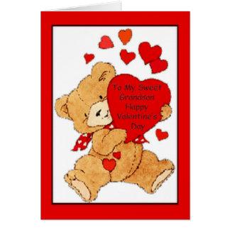 Valentine's Day Card For Grandson